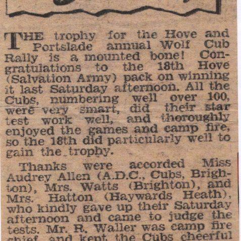 Brighton & Hove Gazette, write up of the