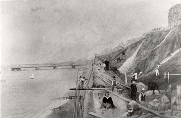 Sea wall | Image reproduced with permission from Brighton History Centre