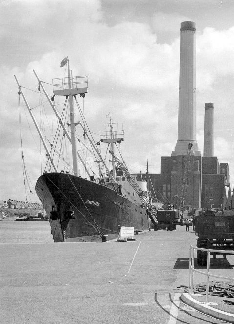 Ship in Shoreham dock c1950s | Photo by Stefan Bremner-Morris