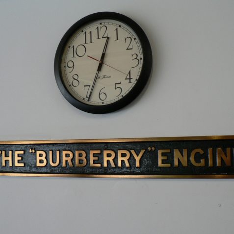 The Burberry Engine sign in the Burberry Club, Southern Water, Lewes Road, Brighton. | From the private collection of Alan Hobden