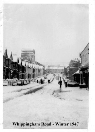 Whippingham Road in the winter of 1947 | Photo from the private collection of Rita Denman