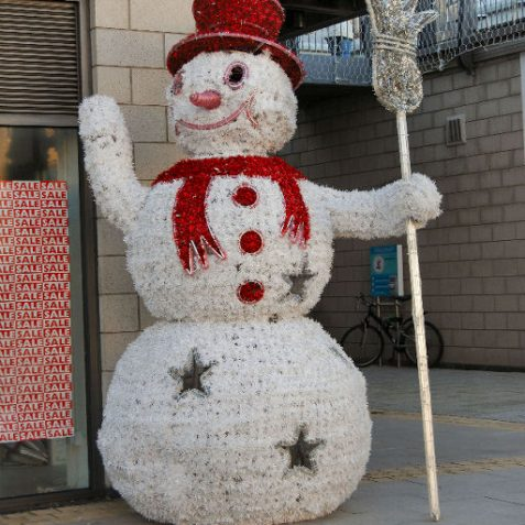 As you can see from the window display - this snowman is showing us the sales have already started! | Photo by Tony Mould