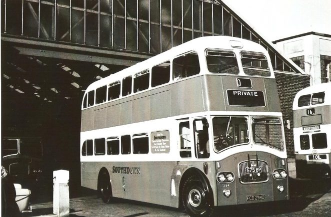 Leaving Portslade Works in Victoria Road on its delivery in 1966 is Southdown 294 | From the private collection of Martin Nimmo