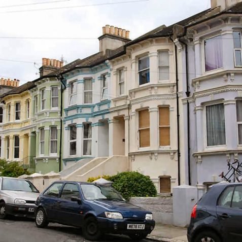 Middle class terraced houses in Springfield Road | Photo by Tony Mould