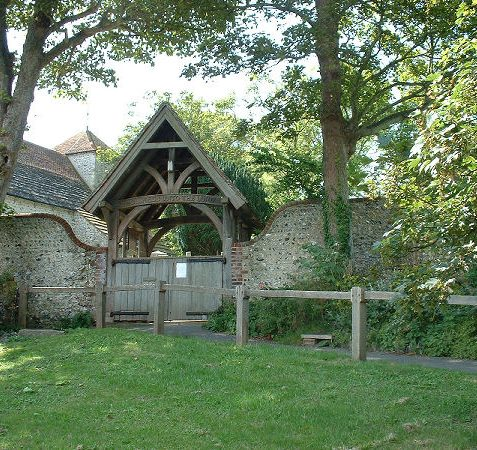 The Lych gate to St Wulfran's church, Ovingdean | Photo by Jennifer Drury