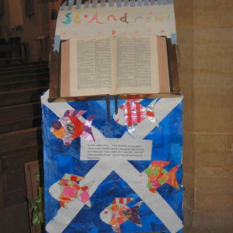 St Andrew the patron saint of Scotland: arranged by 1st Patcham Guides | Photo by Tony Mould