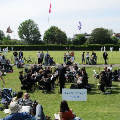 Hangleton Band entertained the visitors | Photo by Tony Mould