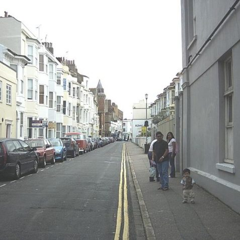 I have found another photo of St George's Terrace, taken in September 2005. This one is looking the other way towards St Georges Road. The old St John the Baptist School is on the right of this photo.   John Leach