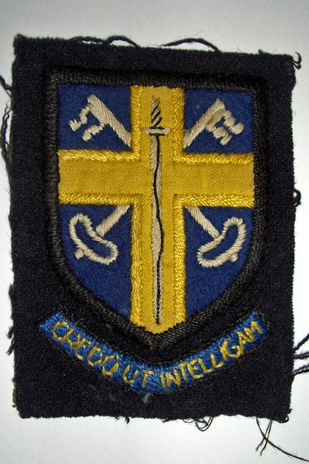 St John the Baptist RC School badge | From the private collection of John Leach