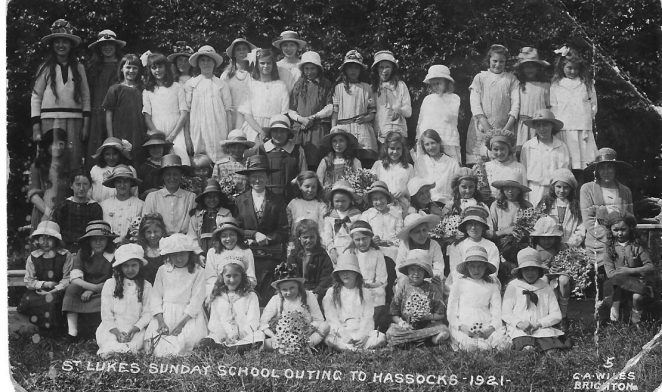 St Luke's Sunday School outing 1921 | From the private collection of Bonny Cother