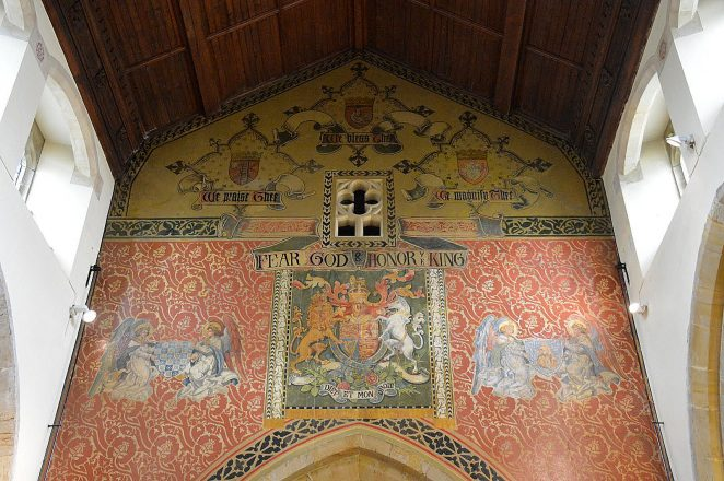 Decoration on the west wall of the nave | Photo by Tony Mould
