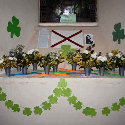 St Patrick, patron saint of Ireland: arranged by 6th (Patcham) Westdene Guides | Photo by Tony Mould