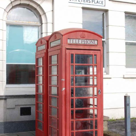 K-6 phone boxes in St Peter's Place | Photo by Tony Mould