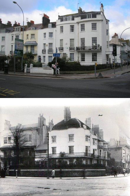 Top St. Peter's Place 2007 (by Peter Groves) bottom North Road 19th Century (Image reproduced with permission from Brighton History Centre) | Photo merge by Peter Groves