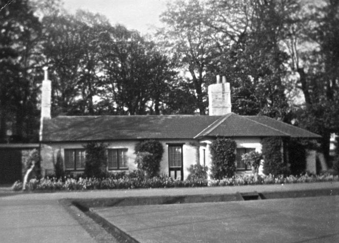 The cottage in St Anns Wells Garden.   From the private collection of Ron Charlton