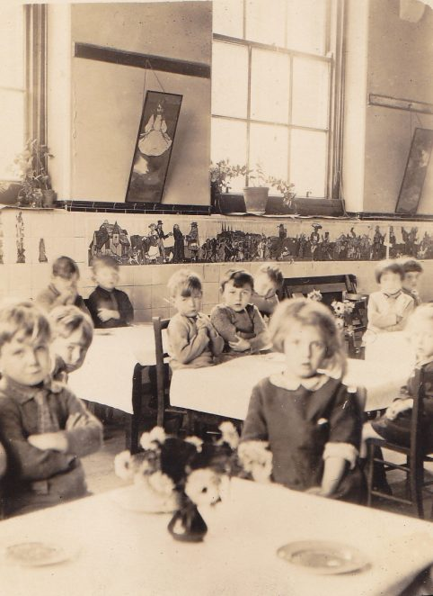 Stanford Road School c.1930 (Geoff Green on the left) | From the private collection of Derek Green
