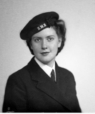 WRNS (T) Barbara Sugden in 1943   From the private collection of Barbara Hopkins