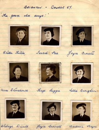 Some of the  wrens attending course 57 in 1943. Click image for larger version.   From the private collection of Barbara Hopkins