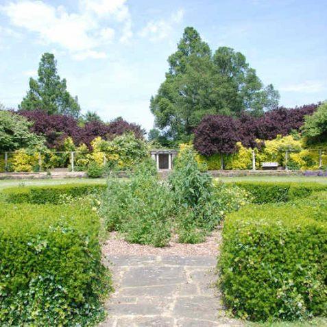 Peace Gardens: sunken rose garden   Photo by Tony Mould