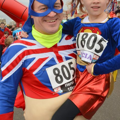 Super Heroes run for Pass it on Africa | Photo by Tony Mould