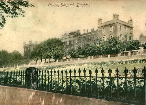 Royal Sussex County Hospital, Eastern Road c.1900 | From the private collection of Tony Drury