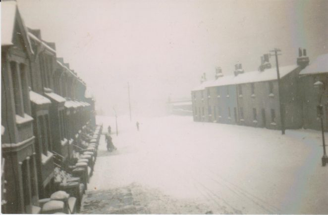 Snowy Sussex Terrace February 1948 | From the private collection of Joy Panteli