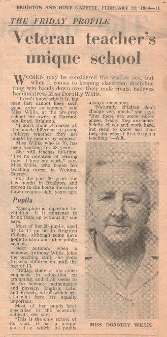 Dorothy H Willis: an enterprising headmistress