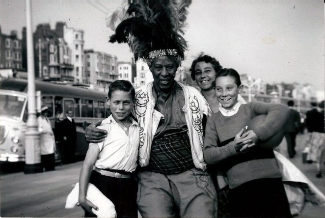Prince Monolulu and my family c1954   From the private collection of Colin Southwood