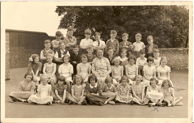 I am seated bottom row second right | From the private collection of Sylvia Denman/Crowe