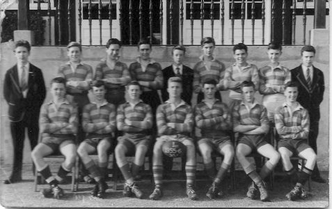 Building School 1st XV Rugby Team 1955-56