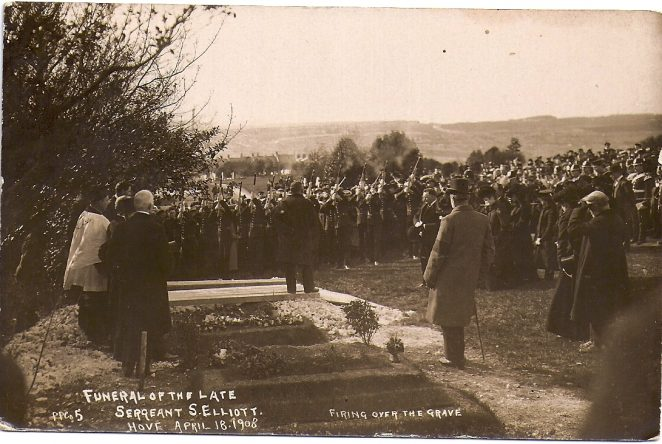 The Funeral of Sergeant S  Elliott 1908 | From the private collection of Graham Muggeridge