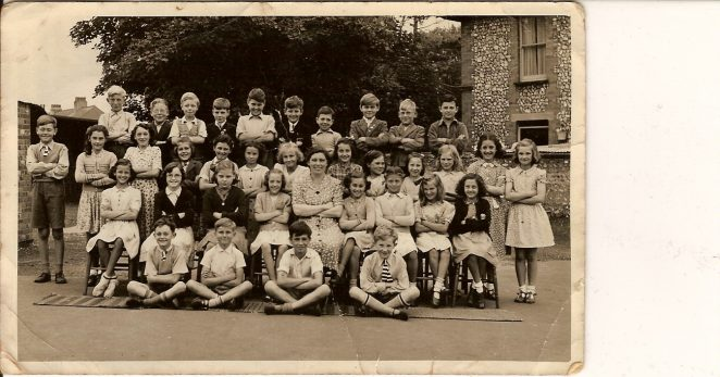 Jeannette second row behind teacher? | From the private collection of Sylvia Denman/Crowe