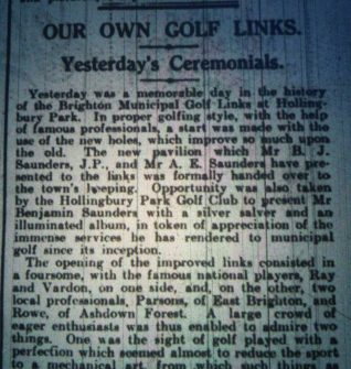 Report from Brighton Gazette 1   HPGC Archive