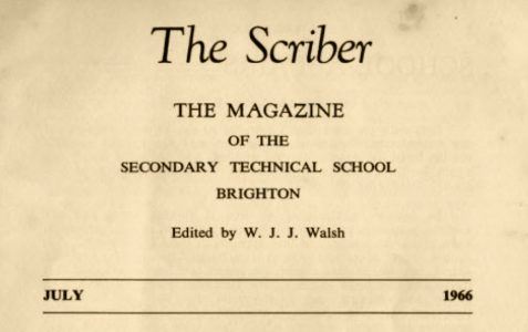 The Scriber: school magazine 1966