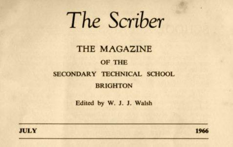 The Scriber: school magazine 1966
