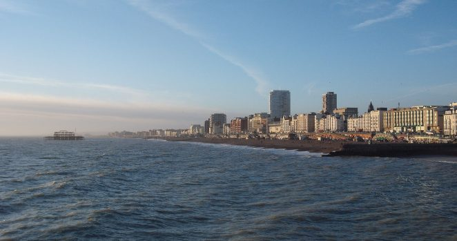 Brighton and Hove seafront   Photo by William James