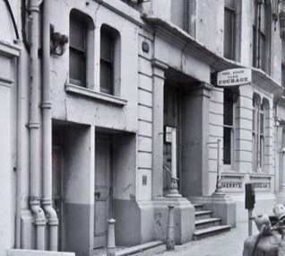 Sherry's building in Middle Street, Photographed on 8 December, 1968 - click on the photograph to open a large version in a new window | Image reproduced with kind permission of The Regency Society and The James Gray Collection