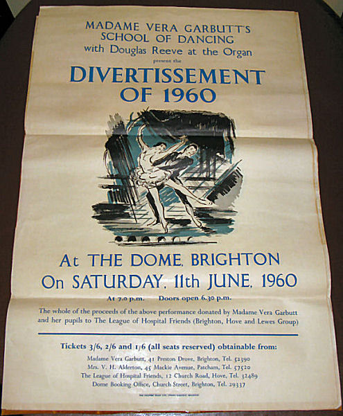 Show poster 1960 | From the private collection of Sue Loveridge