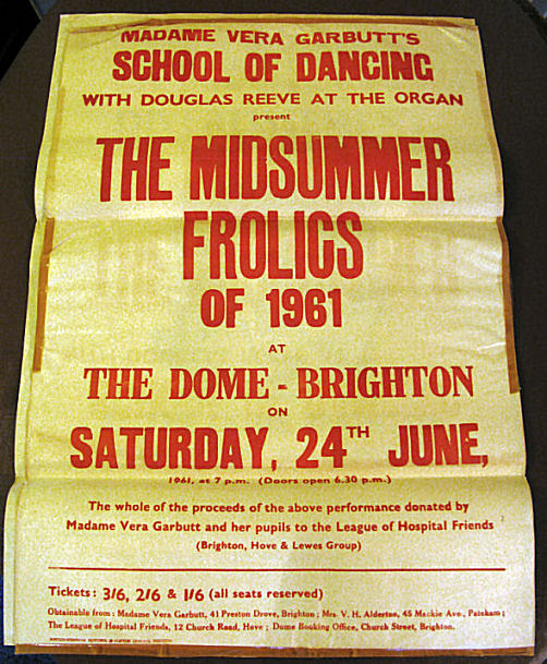 Show poster 1961 | From the private collection of Sue Loveridge