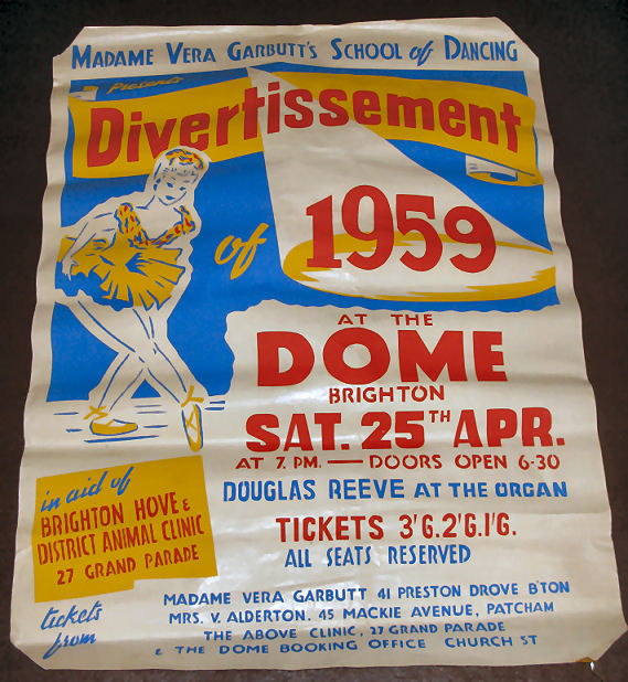 Show poster 1959 | From the private collection of Sue Loveridge