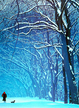 'Frozen to the spot' | Painting of snow in Preston Park in February 1987, by Philip Dunn