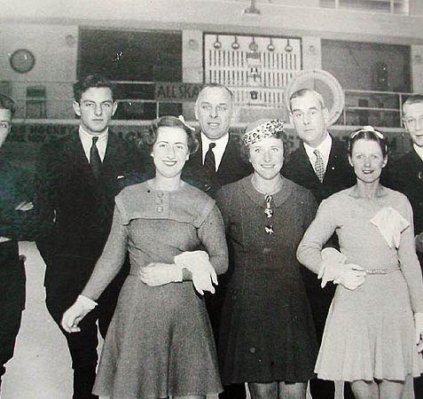These were the first instructional staff at the rink in 1935