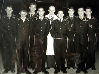 This photograph shows members of the Sports Stadium staff in the early 1950's. Many of the staff in the photo remained in Brighton after the closure of the rink in 1965 and relations may recognise some of the faces in the photo. Left to Right: Mickey Read. Ray Rigby. Ron Richardson. Roy Dummet. Ernie (in white coat). Harry Evans (Foreman). Dennis Beard. Arthur Woodjets. Tony Bass. | Photo scanned from the private collection of Trevor Chepstow