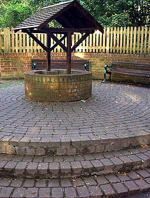 Wellhead covering St Anne's Well in St Anne's Well Gardens | Photo taken by Julia Powell, 2002