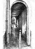 St James Passage | Sketch by David Sawyer