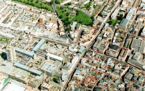 Aerial view, 1991