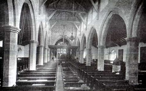 Black and white images of St Nicholas Church c.1910