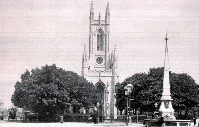 St Peter's Church, Brighton c.1910 | Scanned from original copy of