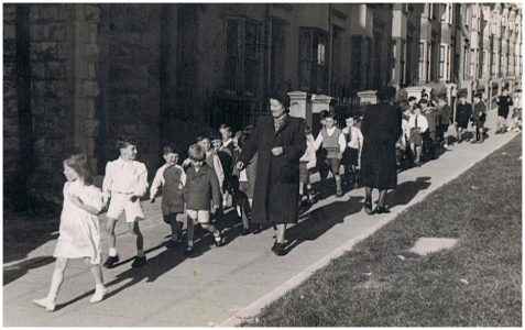 A visit from the Archbishop in 1947