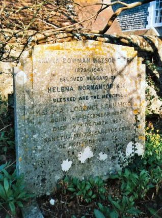 Photograph of the gravestone of Helena Normanton Q.C. | Photo by Jennifer Drury